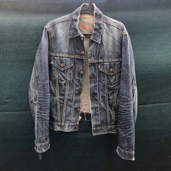 "79c8bf7f99 Levi s Other - Vintage denim big ""E"" Levi s jacket"